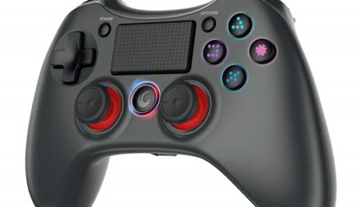【tecbossワイヤレスコントローラーをレビュー】すべての機能が備わった非純正PS4コントローラー【タッチパッドあり】