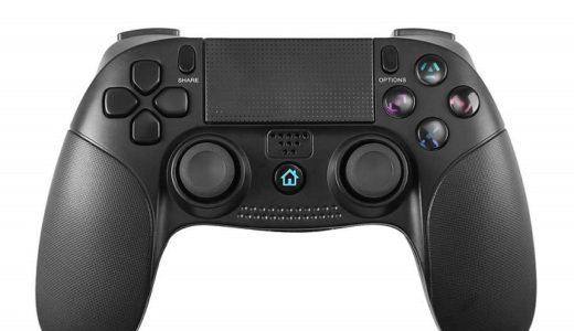 【TOYENワイヤレスコントローラーをレビュー】良デザインの非純正PS4コントローラー【スティックが使いやすい】