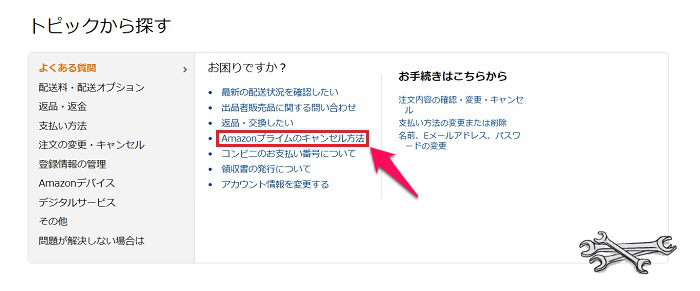 amazonプライムのキャンセル方法