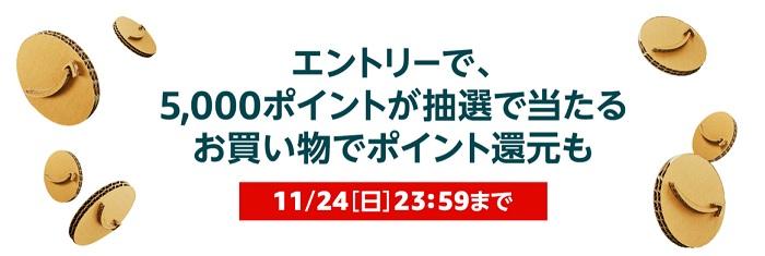 amazonブラックフライデー5000円抽選