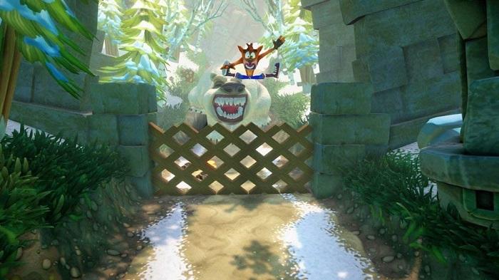 クラッシュ・バンディクー ブッとび3段もり!ゲーム画像