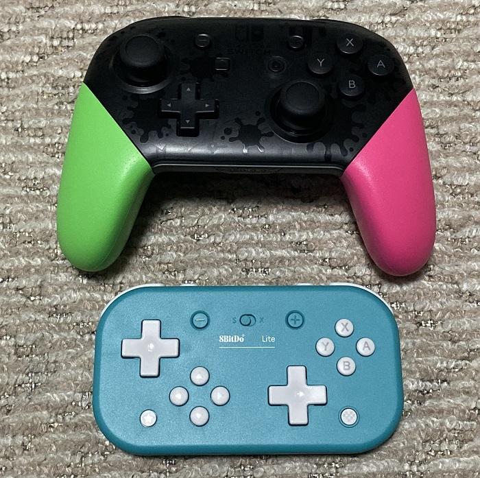 8BitDo Lite Bluetooth Gamepadとプロコン比較