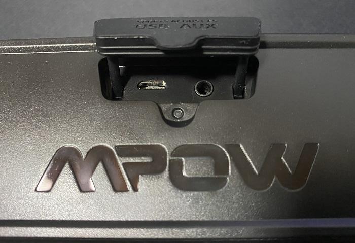 MPOW R6 背面接続