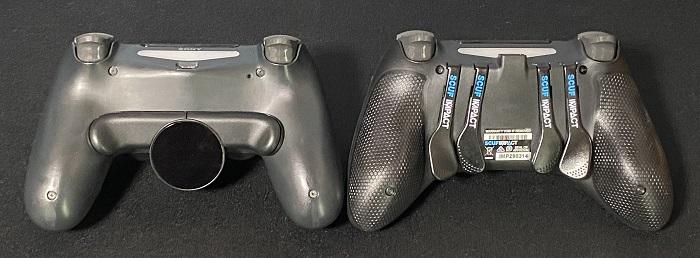 スカフコントローラーと背面ボタンアタッチメント比較