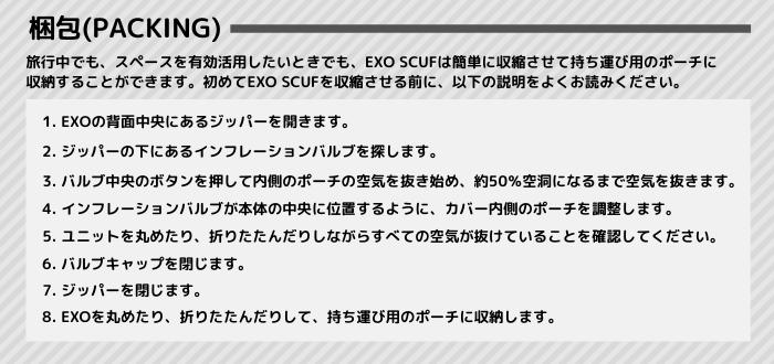 EXO SCUFの梱包_翻訳済み